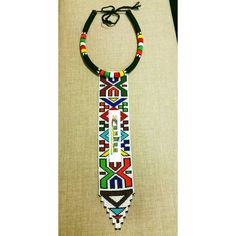 Items similar to 2 Ndebele beaded flower vases on Etsy African Beads, African Art, Beaded Jewelry, Unique Jewelry, Loom, African Clothes, Tie, Trending Outfits, Handmade Gifts