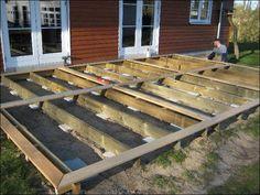 Her ses opbygning af terrasse hos vor kunde Mikael Jacobsen