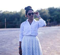 Flared Skirt Brings Charm To Formal Shirt