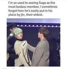 BTS SG SJ | Very true haha although Suga is top in BTS that's just cuz Jin's super nice most of the time
