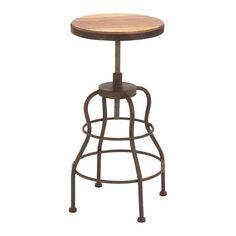 Metal Wood Bar Chair in Brown | Nebraska Furniture Mart
