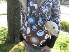 pet sling dog cat bunny carrier for any small pet  by MILKYBABY50, $16.99