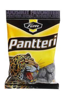 Pantteri Salmiakki...Finnish candy that most people tastes like tar..lol