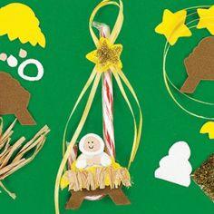 Artesanía de Navidad - Candy Cane Natividad Craft - Paquete de 12