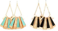 Coming Soon! Turquoise & Black. Which earrings do you prefer?
