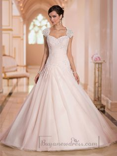 gown women on sale at reasonable prices, buy Vestido De Noiva Light Pink A Line Wedding Dress 2016 Lace Jacket Custom Made Long Backless Capped Sleeve Sweetheart Bridal Gown from mobile site on Aliexpress Now! Popular Wedding Dresses, 2016 Wedding Dresses, Wedding Dress Shopping, Cheap Wedding Dress, Bridal Dresses, Gown Wedding, Tulle Wedding, Dresses 2016, Ivory Wedding