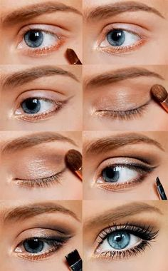 Fun natural look with my favourite golden sparkle which suits blue eyes so much!)) | A 1 Nice Blog
