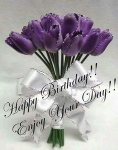 Purple Bday Wishes Happy Birthday Girlfriend Msgs