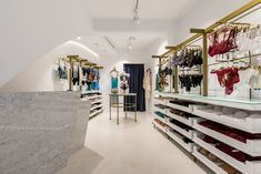 Lingerie boutique, swimwear, interior design, mykonos island, Kalogera street, Levon lingerie and resort wear.