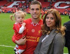 Jordan Henderson s rodinou