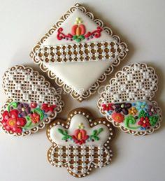 Fancy Cookies, Valentine Cookies, Sugar Cookies, Valentines, Royal Icing Cakes, Cookie Icing, Cookie Decorating, Desserts, Decorated Cookies