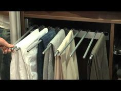 The new Sliderobes interior trouser rail makes light work of storing all your trousers in an easy to access, orderly fashion, with everything you need at you. White Wardrobe, Sliding Wardrobe, Fitted Wardrobes, How To Make Light, Flat Design, High Gloss, Bedroom Ideas, Diy Ideas, Trousers