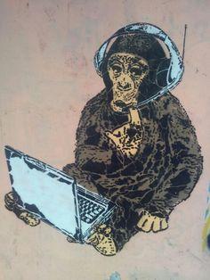 Monkey business - man