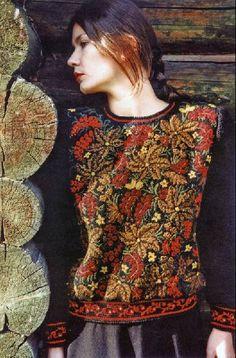 Russian Folk, Single Piece, Fashion History, Knit Crochet, Boho, Knitting, Chic, Blouse, Tricot