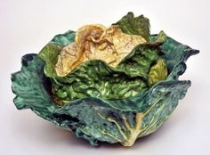 Tureen and cover in the form of a spring cabbage, c.1770  Faience  French, Sceaux