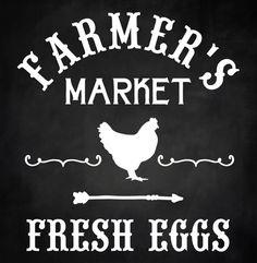 Farmers Market Fresh Eggs Chicken Farm Country Rustic  Wood Sign 12 x 12 Stencil