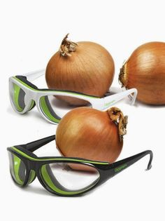 Onion goggles! I need a pair in my kitchen for no more tears while chopping onions! #product_design