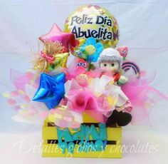 Jgbj Chocolates, Candy Bouquet, Gift Baskets, Ideas Para, Diy Gifts, Balloons, Day, Floral, Designers