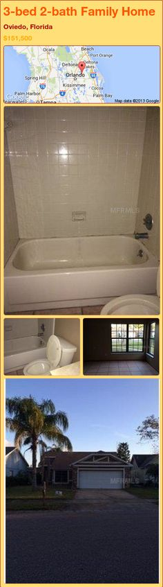 3-bed 2-bath Family Home in Oviedo, Florida ►$151,500 #PropertyForSale #RealEstate #Florida http://florida-magic.com/properties/90794-family-home-for-sale-in-oviedo-florida-with-3-bedroom-2-bathroom