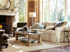 Check out pillows and throws and mantle