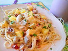 Hawaii ananászos tejszínes csirke spagettivel - gluténmentes http://mediterran.cafeblog.hu/2017/05/23/egyszeru-es-kulonleges-hawaii-ananaszos-csirke-spagettivel/
