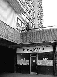 Pie & Mash. Crisp Street Market E14