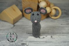 Fingerpuppe Maus – New Ideas Lace Knitting Patterns, Sewing Patterns, Crochet Projects, Craft Projects, Pencil Toppers, Crochet Mouse, Finger Puppets, Drops Design, Refashioning