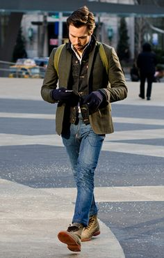 Men's Fall Winter Street Style Fashion.