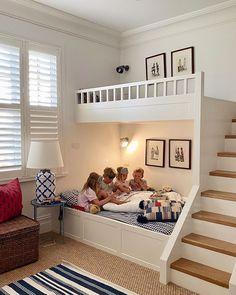 Bunk Bed Designs, Kids Bedroom Designs, Kids Bedroom Sets, Room Design Bedroom, Small Room Design, Kids Room Design, Home Room Design, Bunk Bed Rooms, Bunk Beds Built In