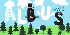 Albus is a bold, rounded handwitten typeface created by Andreas Brunelius and published by Gustav & Brun that is design to be suitable to children's book, funny invitations, party's, amusing message etc.