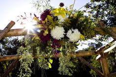 Floral arrangement decorating our Sylvan Dale Wedding Arch Guest Ranch, Wedding Reception Locations, Floral Arrangements, Past, Destination Wedding, Colorado, Arch, Romantic, Weddings