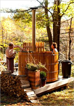 A Wood-Fired Hot Tub for an Old-Style Soak - NYTimes.com