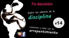 #regla de #autocuidado #14 Es tu #decision. Sufrir los efectos de la #disciplina, o lamentar y lidiar con el #arrepentimiento.  #healthy #aprender #entrenar #salud #nutricion #metas #objetivos