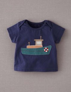 Ive spotted this @BodenClothing Vehicle Appliqué T-shirt Dusty Blue/Tugboat