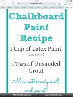 Chalkboard paint.