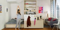 Shapeshifting small apartment designed by Yves Béhar & MIT.