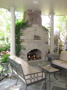 love my fireplace on patio all year round.