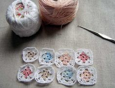 Miniature granny squares