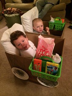 """The boys had fun making their """"car"""" for movie night at the """"drive in"""" Toddler Learning Activities, Infant Activities, Craft Activities, Family Activities, Indoor Activities, Movie Night For Kids, Family Fun Night, Indoor Movie Night, Games For Kids"""