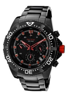 Price:$169.00 #watches Red Line 50030VK-BB-11RD, Showcasing a smart blend of contemporary and classical styles, this Red Line timepiece is a handsome addition to any man's wardrobe.