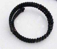 Beautiful vintage black beaded wired choker circa by BoxV on Etsy