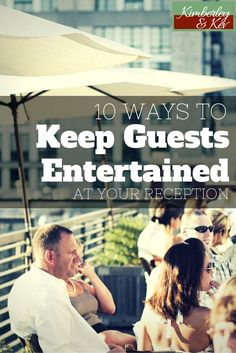 Luckily there are ways you can entertain your wedding guests and make your wedding the hit of the year — and most of these are friendly to even the strictest wedding budgets.