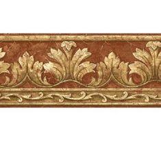 Victorian architectural pillar molding wallpaper border