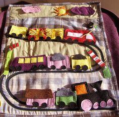 Lillago - Egyedi Mei Tai és csatos hordozó (SSC) - Mert hordozni jó!: Filc mozdonyos - vonatos interaktív mesefalvédő Diaper Bag, Transportation, Book, Diaper Bags, Books, Mothers Bag, Book Illustrations, Nappy Bags, Libros