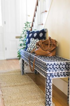 Balancing colors and patterns: http://www.stylemepretty.com/living/2016/10/10/from-the-bachelor-to-gorgeous-love-nest-tour-ben-laurens-new-digs/ Photography: Ruth Eileen - http://rutheileenphotography.com/