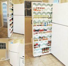 Hidden Fridge Pantry Storage