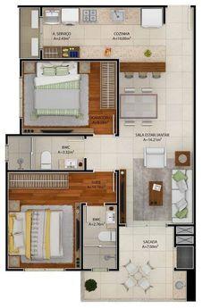 3d House Plans, Model House Plan, House Layout Plans, Floor Plan Layout, Small House Plans, House Layouts, Home Building Design, Home Design Plans, Building A House