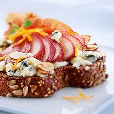 The Perry Grilled Cheese...blue cheese, pears, almonds