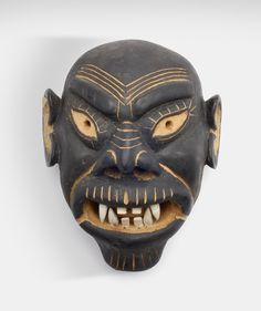 Wooden mask by Valde Bajare, 1968, Grønland. Museon, CC BY