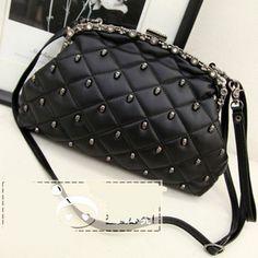 Bags 2013 new handbag Lingge, skull rivet Clutch ,,shop at Costwe.com